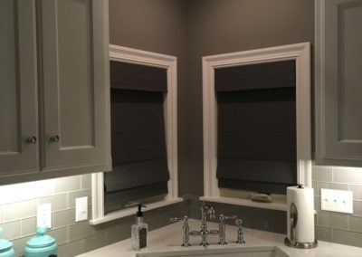 Cordless Roman Shades for a classic look.